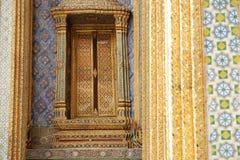 Bella finestra a Wat Phra Keow immagine stock libera da diritti