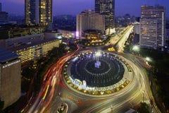 Bella fontana della rotonda dell'Indonesia dell'hotel immagini stock libere da diritti