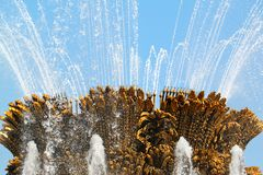 Bella fontana a Mosca Fotografia Stock