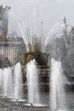 Bella fontana a Mosca Immagini Stock Libere da Diritti