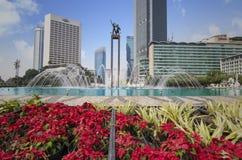 Bella fontana nella rotonda dell'Indonesia dell'hotel fotografie stock libere da diritti