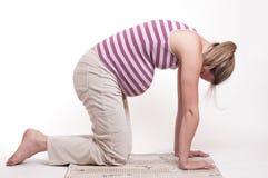 Bella forma fisica della donna incinta Immagine Stock