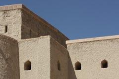 Bella fortificazione di Bahla, Oman Fotografia Stock