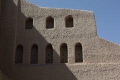 Bella fortificazione di Bahla, Oman Immagine Stock