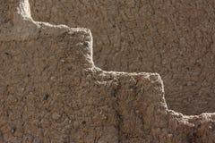 Bella fortificazione di Bahla, Oman fotografia stock libera da diritti