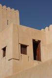Bella fortificazione di Nizwa, Oman Fotografia Stock