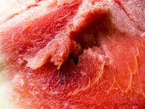Bella foto con il primo piano affettato fresco dell'anguria Immagini Stock