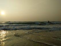 Bella foto della spiaggia della Sri Lanka spiaggia di hikkaduwa Fotografia Stock Libera da Diritti