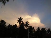 Bella foto di tramonto del cielo dello Sri Lanka Fotografia Stock