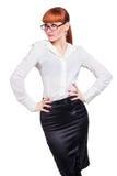 Bella foto di una signora di affari in occhiali Immagine Stock