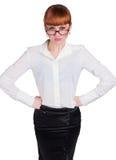 Bella foto di una signora di affari in occhiali Immagine Stock Libera da Diritti