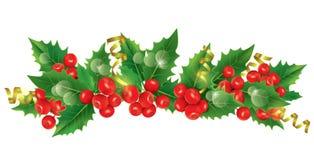 Bella ghirlanda di Natale Fotografie Stock