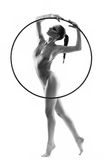 Bella ginnasta della giovane donna Fotografia Stock