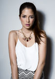 Bella giovane donna asiatica con pelle perfetta Immagine Stock Libera da Diritti