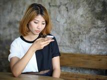Bella giovane donna asiatica del ritratto Fotografie Stock