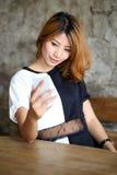 Bella giovane donna asiatica del ritratto Fotografia Stock Libera da Diritti
