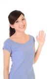 Bella giovane donna asiatica, isolata su bianco Immagine Stock