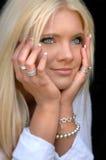 Bella giovane donna bionda Fotografia Stock