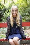 Bella giovane donna bionda Fotografie Stock