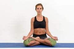 Bella giovane donna che fa yoga immagine stock