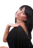 Bella giovane donna che trasmette un bacio Immagini Stock