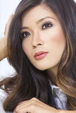 Bella giovane donna cinese asiatica del ritratto fotografia stock libera da diritti