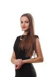 Bella giovane donna con capelli neri e lunghi Fotografia Stock Libera da Diritti