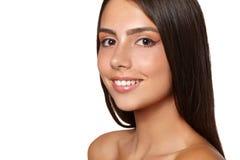 Bella giovane donna con pelle pulita fresca Fotografia Stock