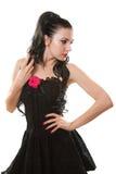 Bella giovane donna del brunette Immagine Stock Libera da Diritti