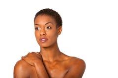 Bella giovane donna dell'afroamericano Fotografia Stock