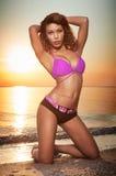 Bella giovane donna dell'afroamericano fotografia stock libera da diritti