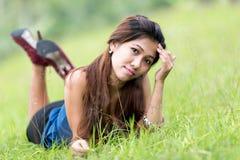 Bella giovane donna della filippina Fotografia Stock Libera da Diritti