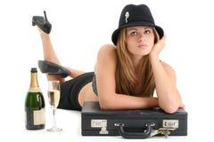 Bella giovane donna di affari Fotografia Stock Libera da Diritti