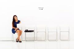 Intervista di lavoro della donna di affari Immagini Stock