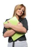 Bella giovane donna di affari con il computer portatile Fotografia Stock Libera da Diritti