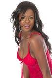 Bella giovane donna di colore alla moda Immagini Stock