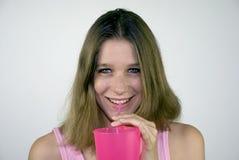 Bella giovane donna felice Fotografia Stock