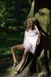 Bella giovane donna felice Fotografia Stock Libera da Diritti