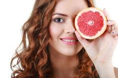 Bella giovane donna felice Stile di vita sano Cibo sano Fotografia Stock