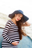 Bella giovane donna incinta Fotografie Stock