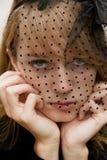 Bella, giovane donna intensa Immagine Stock