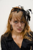 Bella, giovane donna intensa Fotografie Stock