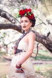 Bella giovane donna messicana Fotografia Stock Libera da Diritti