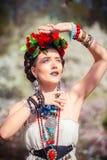 Bella giovane donna messicana Immagine Stock