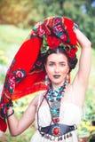 Bella giovane donna messicana Fotografia Stock