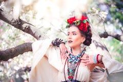 Bella giovane donna messicana Fotografie Stock