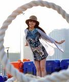 Bella giovane donna o ragazza cinese asiatica felice Immagini Stock