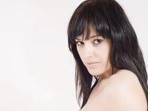 Bella, giovane donna sensuale che sembra sexy Immagine Stock