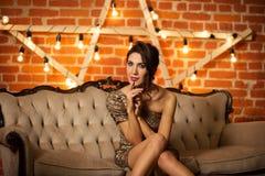 Bella giovane donna sexy Fotografie Stock Libere da Diritti