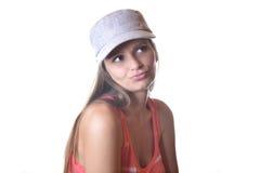 Bella giovane donna in studio Immagini Stock Libere da Diritti